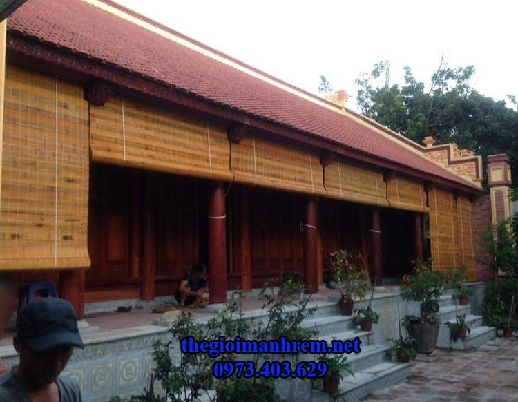 Mành trúc che nắng cho nhà cổ