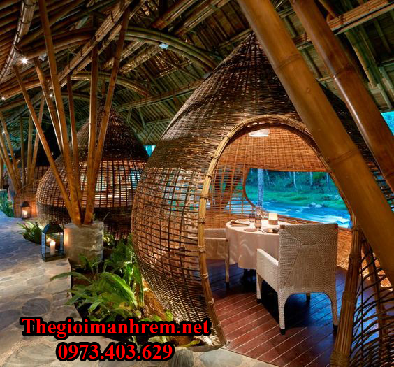 Quán cà phê tre trúc đẹp Việt Nam