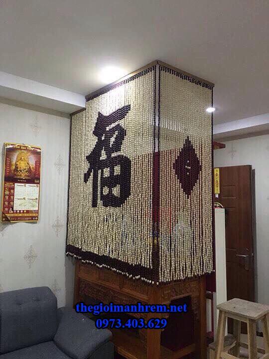 rèm hạt gỗ phòng thờ