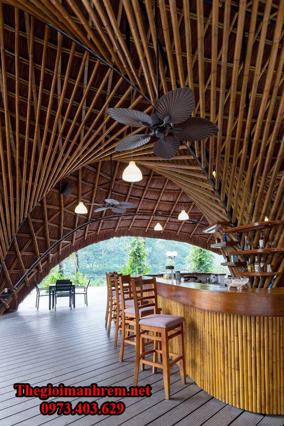 Nhà hàng tre trúc ở Hà Tĩnh