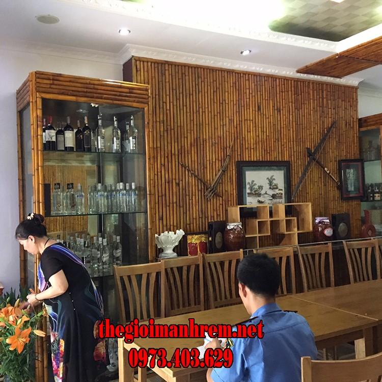 Ốp tre trúc cho nhà hàng