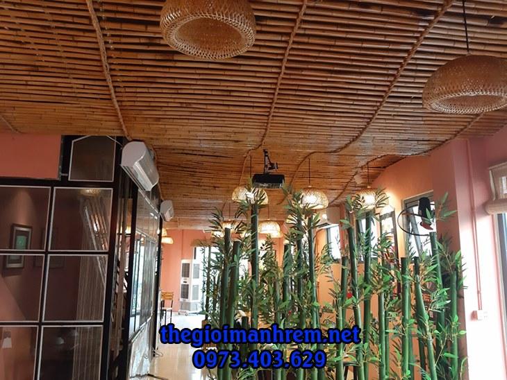 ốp nội thất tre trúc nhà hàng