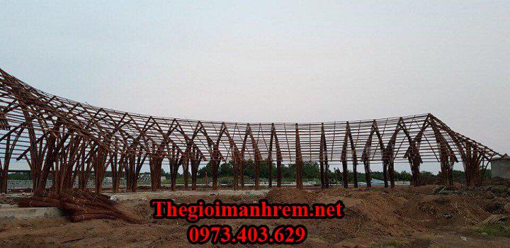 Ốp tre trúc nhà tre mái lá Kiên Giang