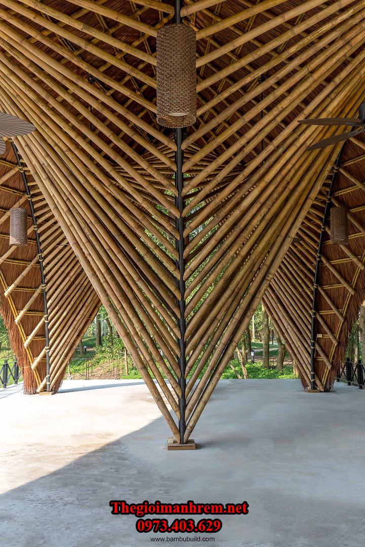 Thiết kế thi công ốp tre trúc Hải Phòng