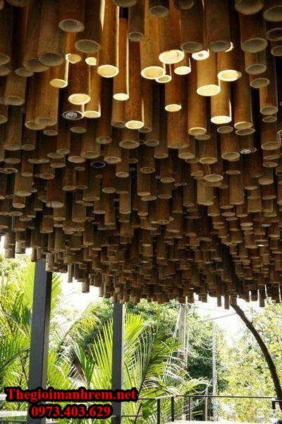 Trang trí quán bằng tre trúc