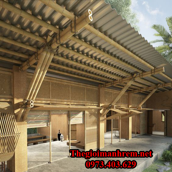 Trang trí quán cà phê bằng tre trúc