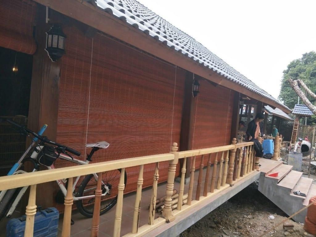 Lắp đặt mành tre tại Hà Nội