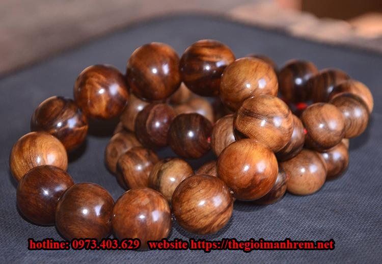 Vòng hạt gỗ xâu chuỗi đẹp