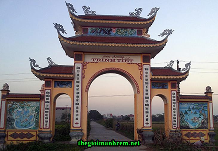 Cổng Làng văn hóa Trinh Tiết - Mỹ Đức - Hà Nội