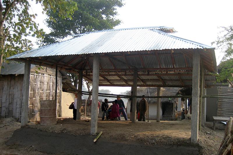 Khung nhà bằng tre