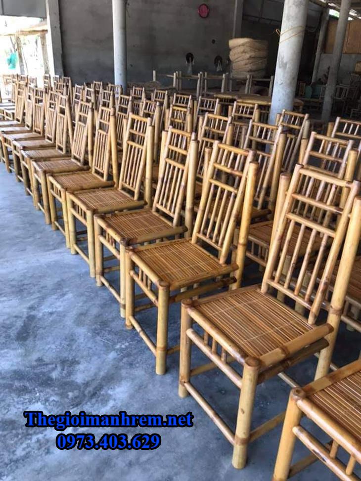 Bàn ghế tre cho nhà hàng
