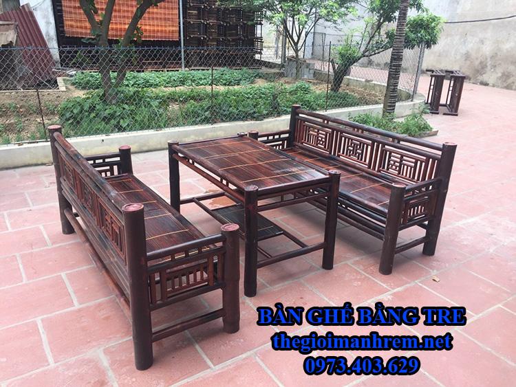 Bàn ghế tre giá rẻ Hà Nội