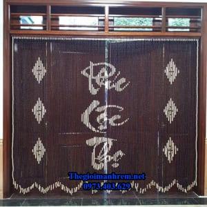 Rèm cửa hạt gỗ