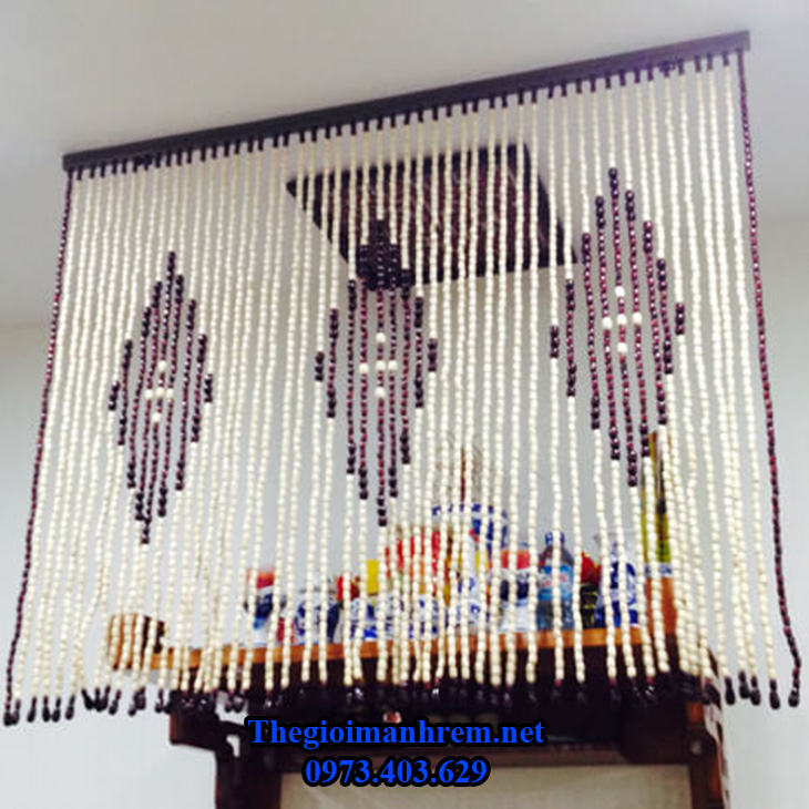 Mành rèm bàn thờ hạt gỗ